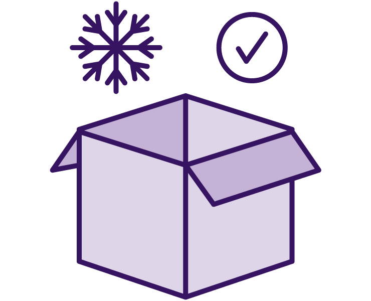 Icon of a box packed with cold insulation
