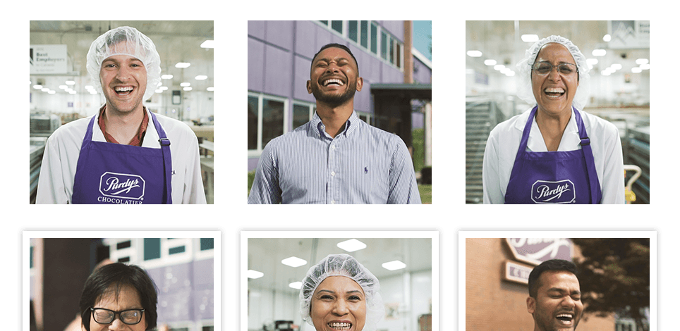 Gallery of different headshots of Purdys employees